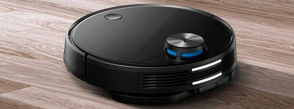 робот-пылесос черного цвета от Сяоми