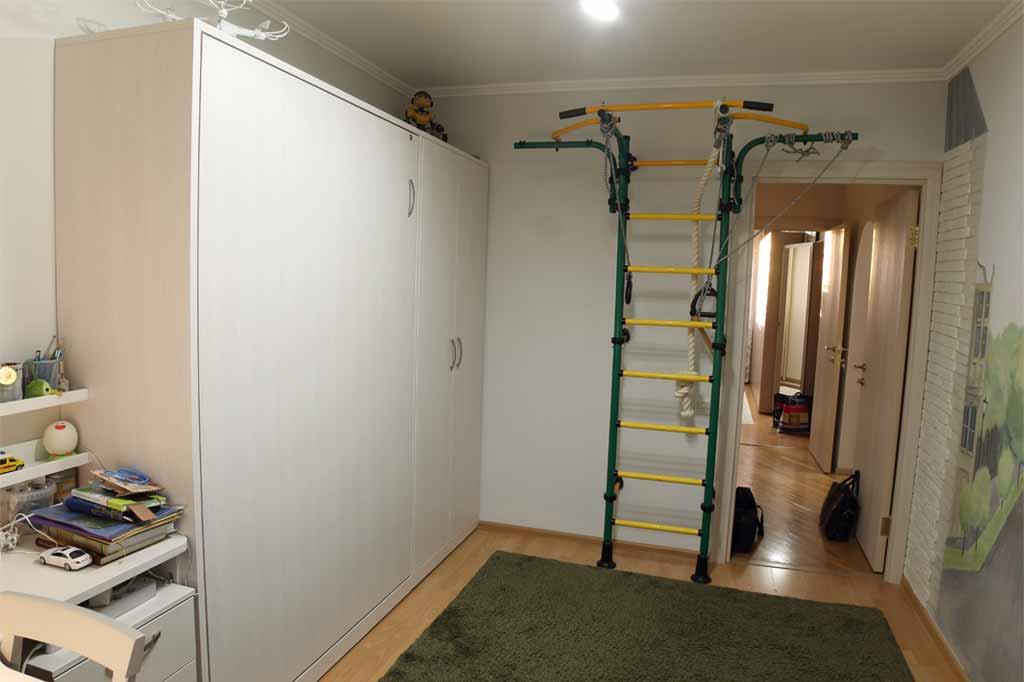 Вертикальная шкаф-кровать, декор: вудлайн кремовый