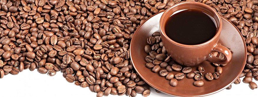 темный зерновой кофе фото