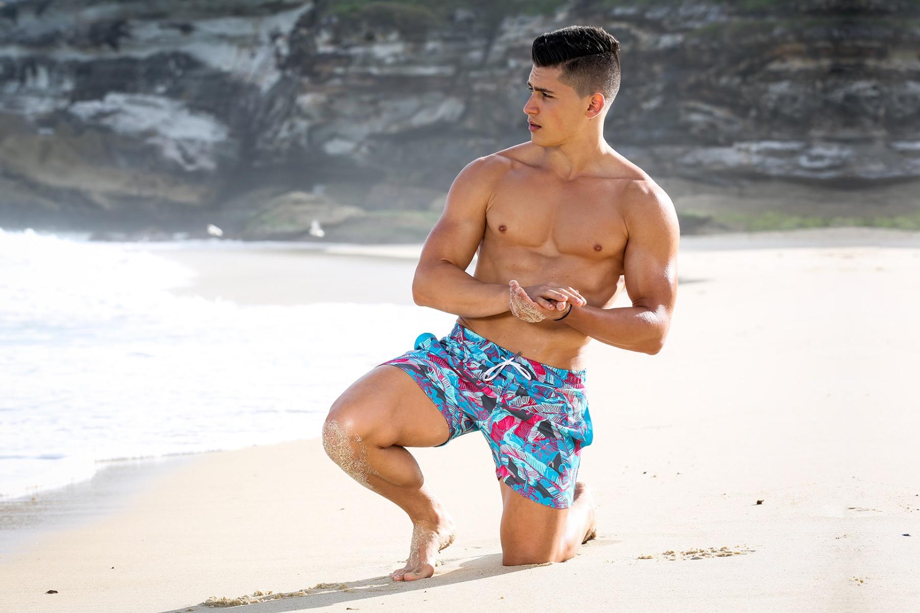 пляжные шорты мужские teamm8 lush swim