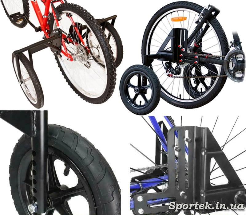 Бічні колеса для велосипедів з колесами більше 24 дюймів