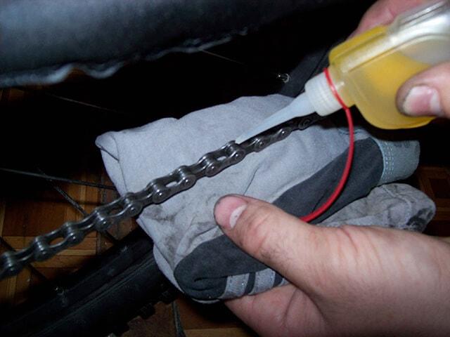 Метод смазывания велосипедной цепи