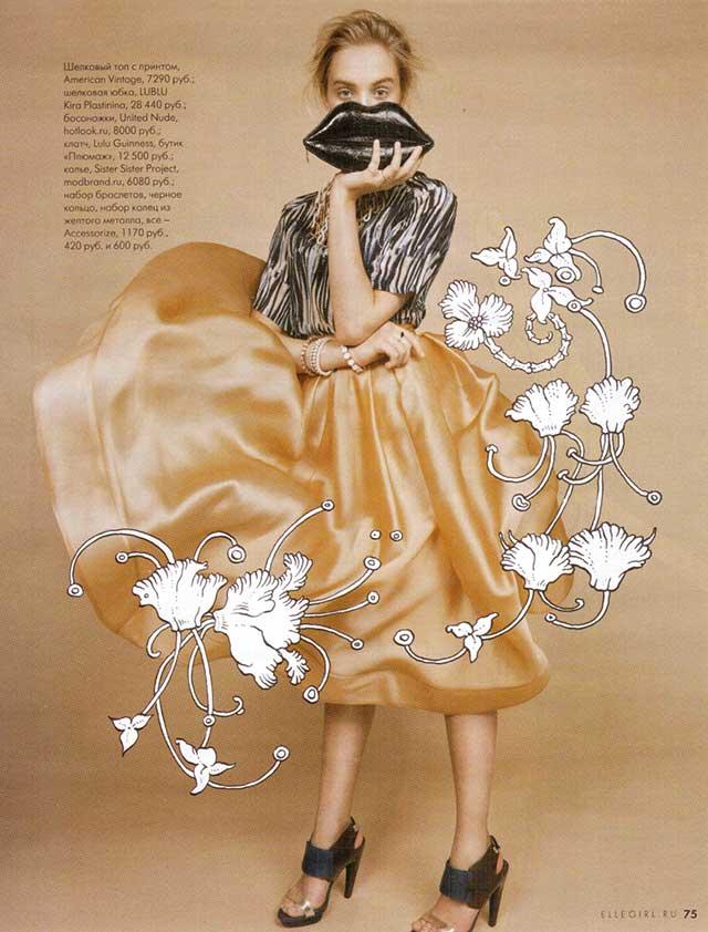 Массивное колье  с цепями  от Sister Sister Project в мартовском номере Elle Girl