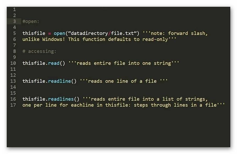 Пример комментариев в коде