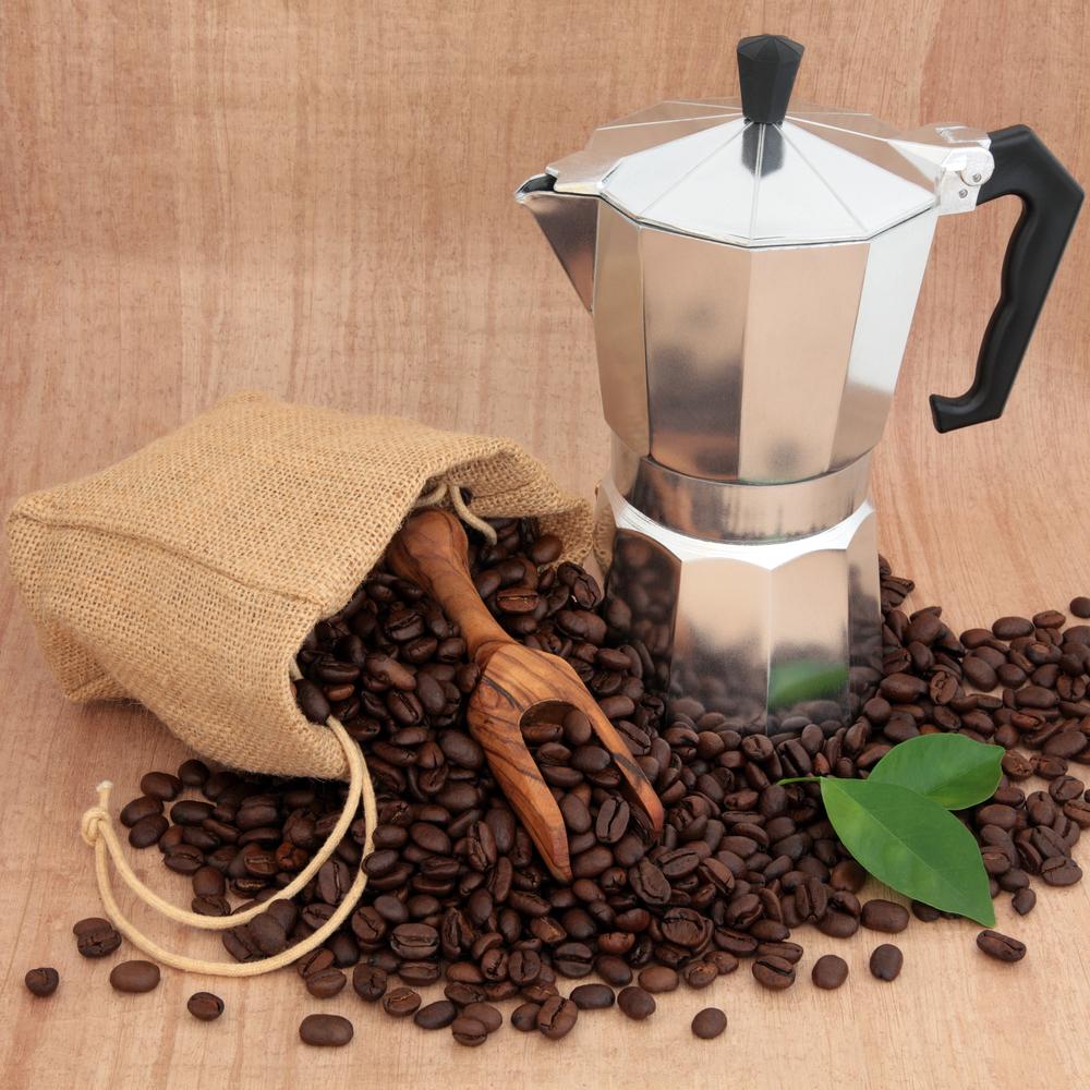 фото зернового кофе для гейзерной кофеварки