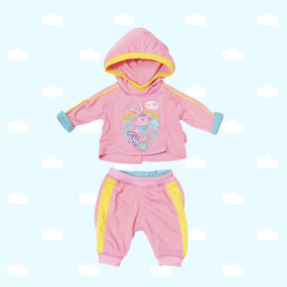 Одежда для куклы Беби Бон - Спортивный костюмчик розовый
