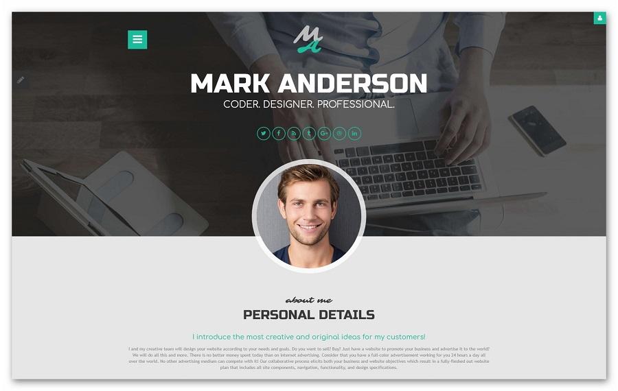 Пример личного сайта
