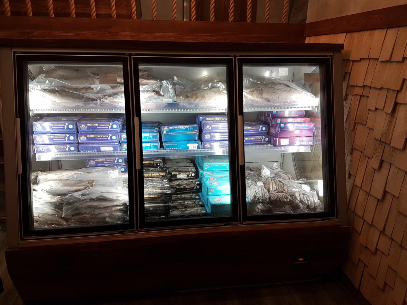 морозильные витрины выкладка