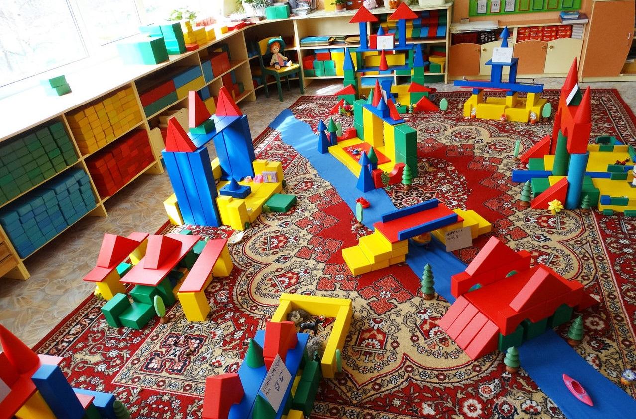 дом радости 390, Конструктор детский напольный пустотелый из дерева Дом радости - 390 элементов, напольный конструктор, конструктор детский