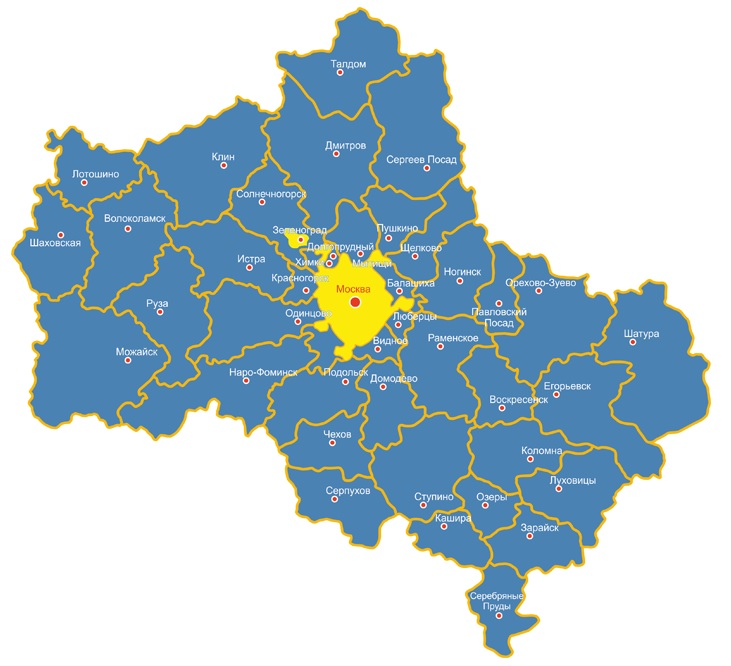 Карта Москва и МО