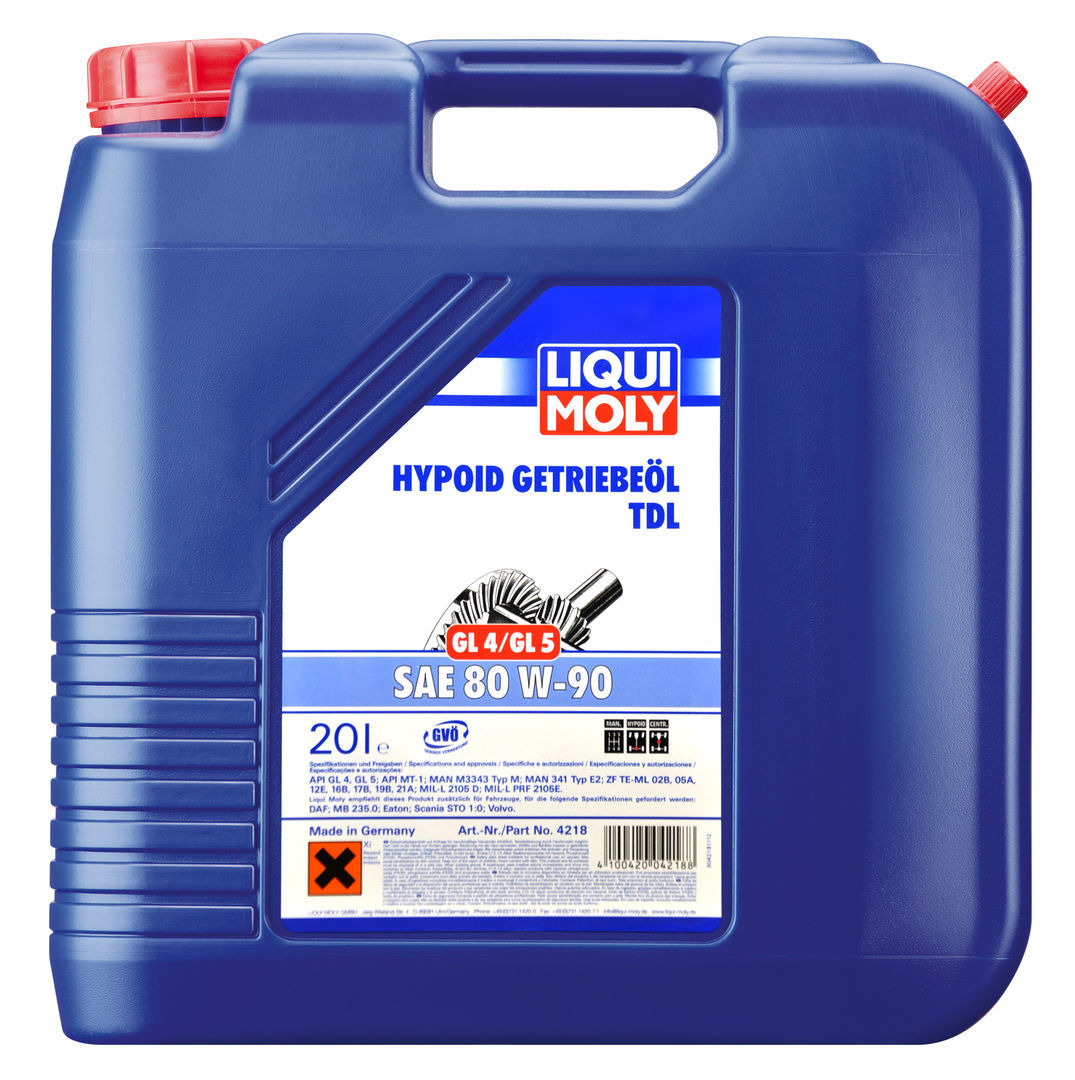 Трансмиссионное масло Liqui Moly класса GL 4 для коробок передач