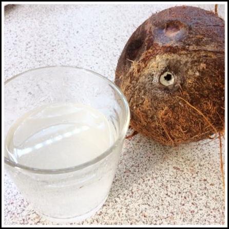 Сливаем кокосовое молоко