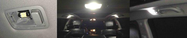 Замена ламп на светодиодные в салоне Hyundai Santa Fe new DM