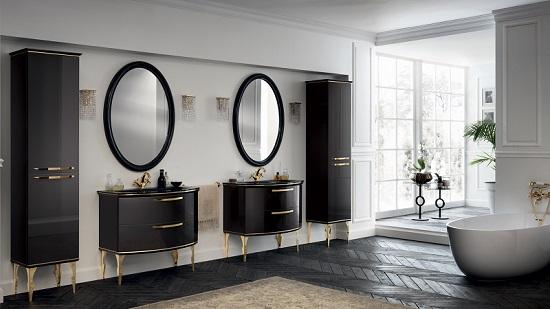 Ванная комната с мебелью в загородном доме