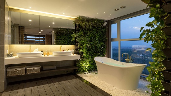 Отдельностоящая ванна на двоих