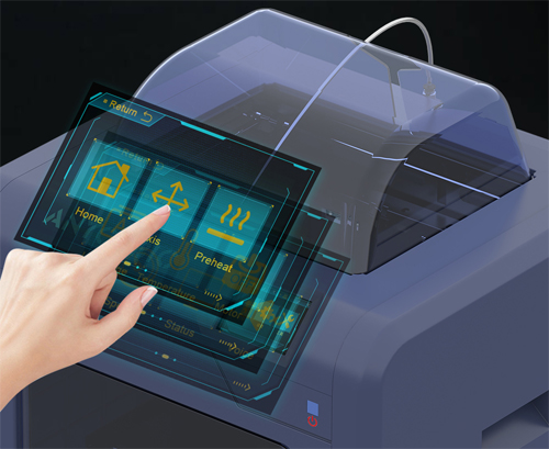 Anycubic 4Max Pro 2.0 сенсорный экран