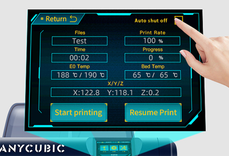 Anycubic 4Max Pro 2.0_автоотключение