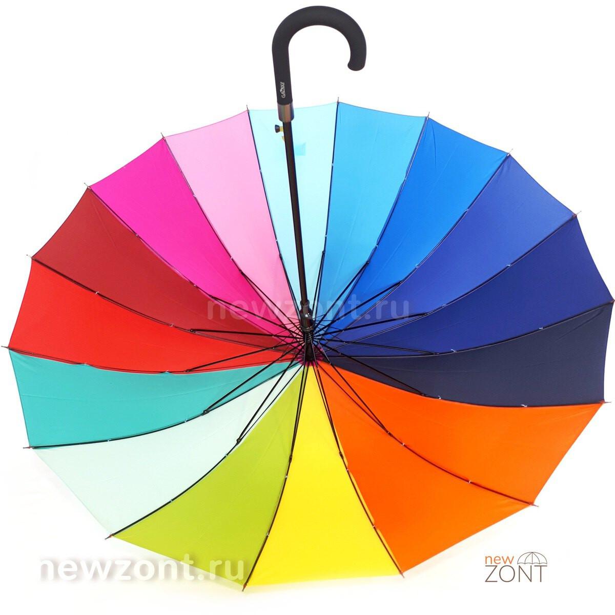Зонт радуга вид изнутри