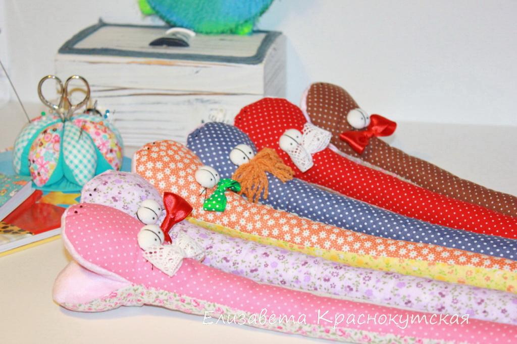мастер-класс шьем текстильную игрушку змея из ткани