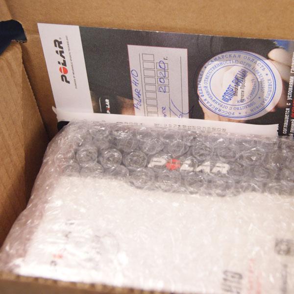 Упаковка пульсометра Polar