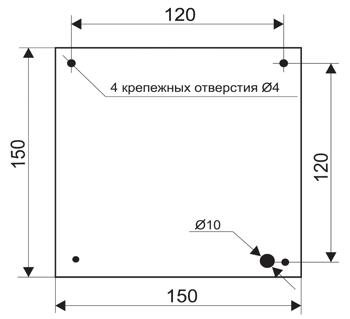 Установочные размеры для динамического светового информационного табло МИНИ ДИН4