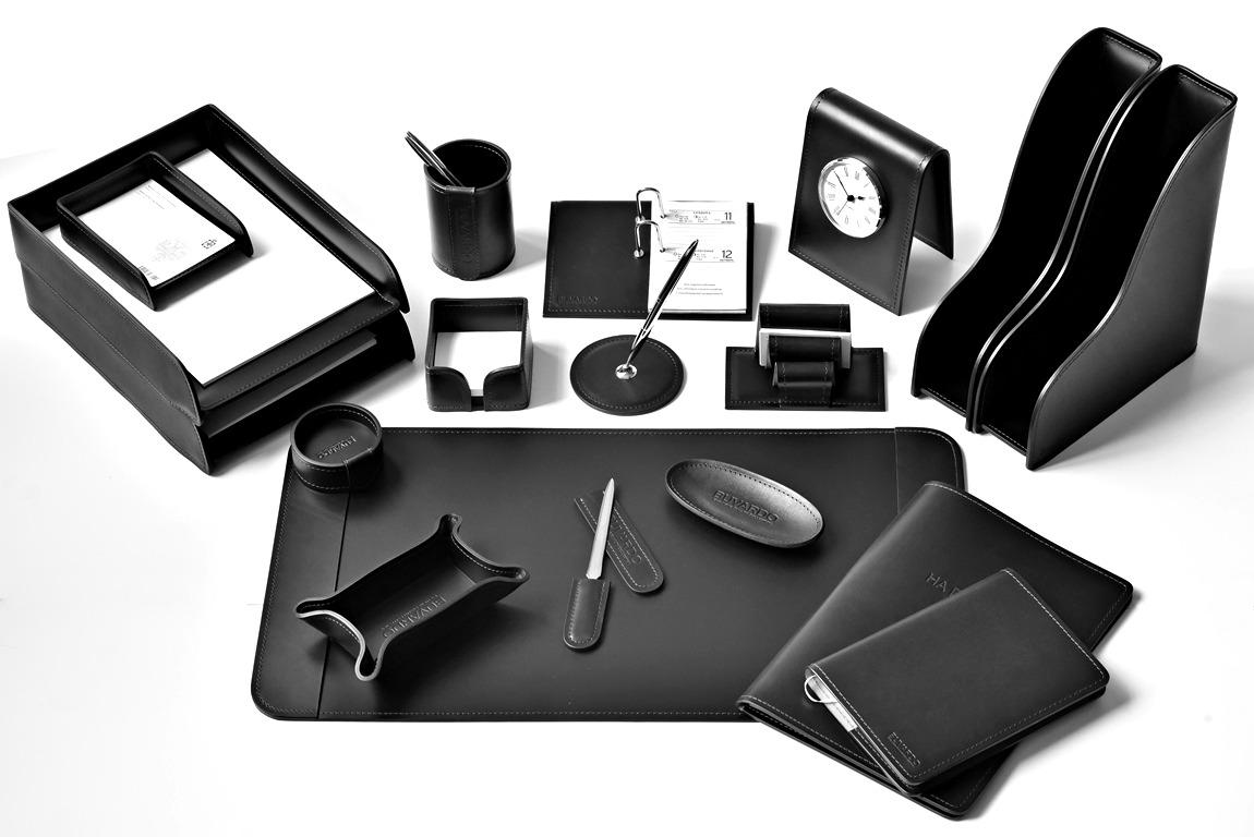подарочный набор руководителя из черной кожи