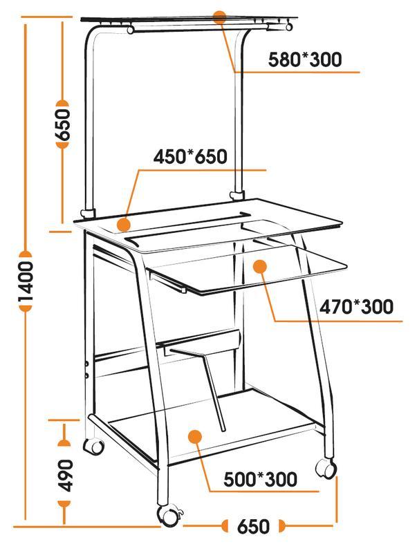 Размеры компьютерного стола Prima WRX-03