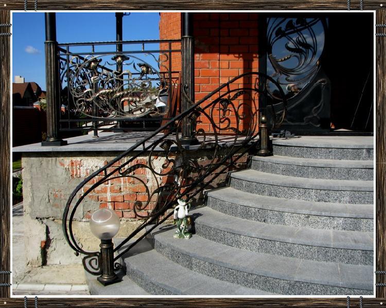 Художественная ковка - Перила, лестницы, мостки