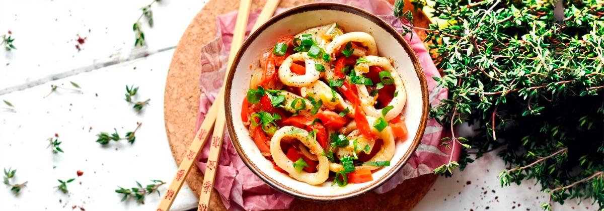 Кальмары по-китайски в сочном маринаде