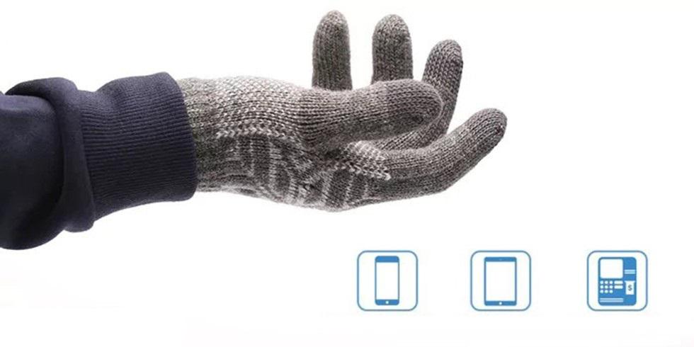Перчатки для сенсорных экранов Xiaomi Wool Touch Gloves (160/90, серый)