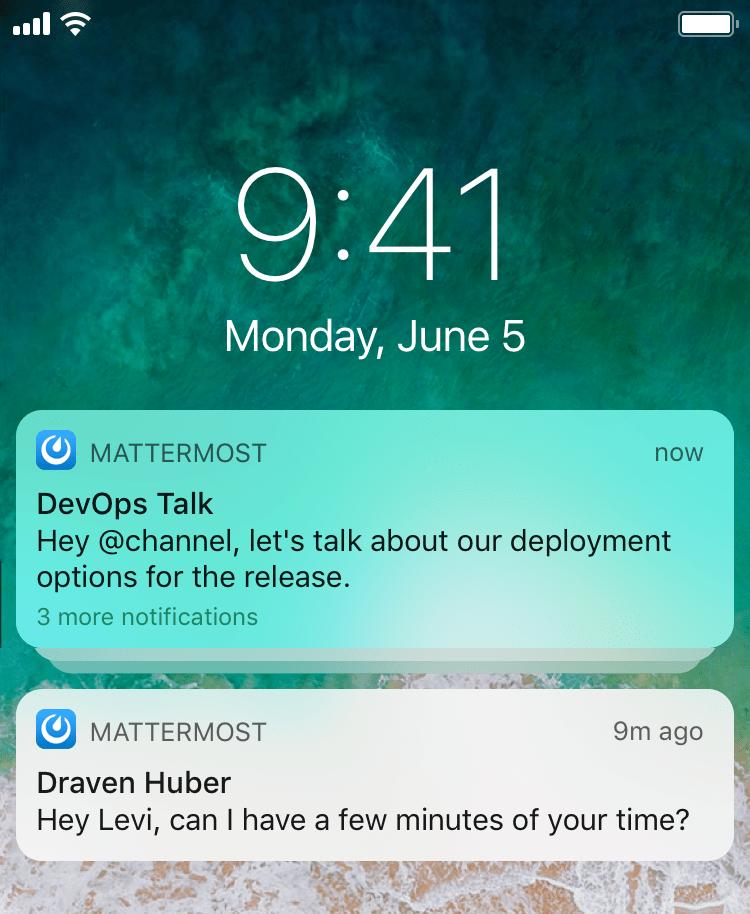 mattermost notifications