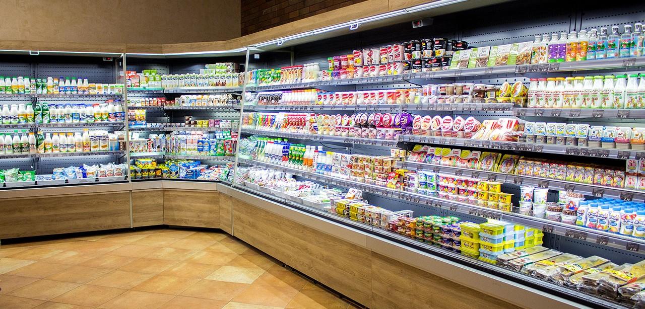 витрина для молочных продуктов