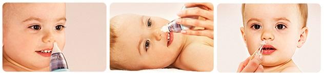 Очистка нососвой полости ребенка с помощью Coclean Baby COB-200