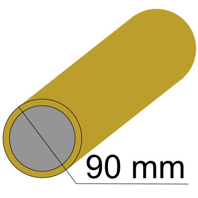 Труба 90 золото