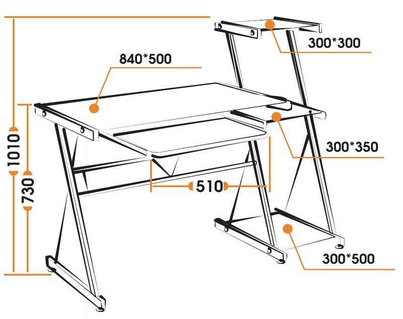 Размеры компьютерного стола Technospace WRX-08