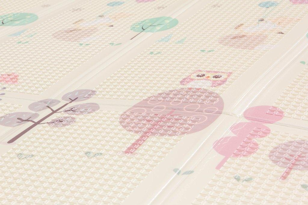"""Складной коврик для детей """"Лесные зверята""""  двусторонний (200*180*1,5) УТОЛЩЕННЫЙ"""