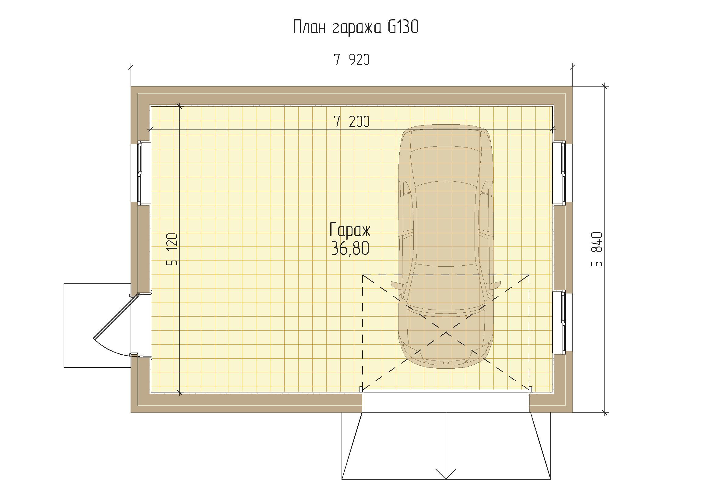 Проект гаража с мастерской из пеноблоков