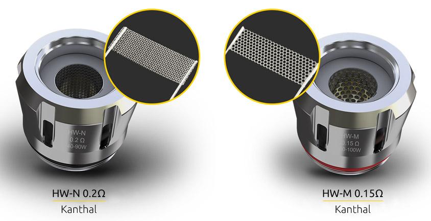 Испарители HW-N и HW-M для Eleaf iJust 3 + ELLO Duro Kit