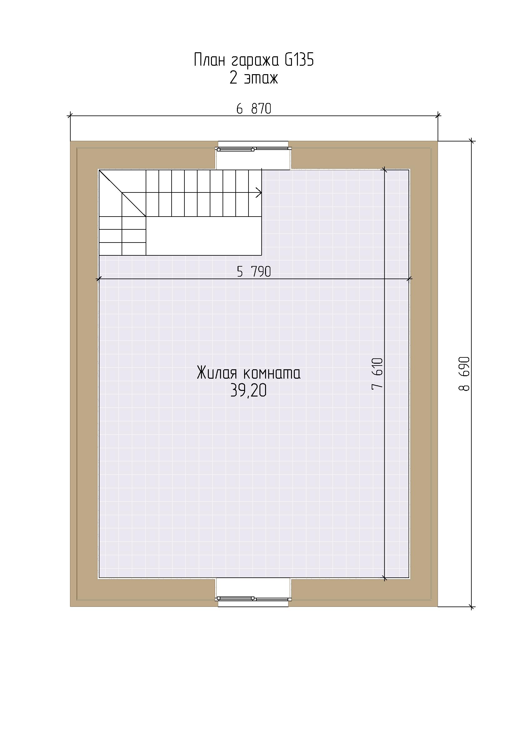 Проект гаража в стиле фахверк с жилой частью в мансарде