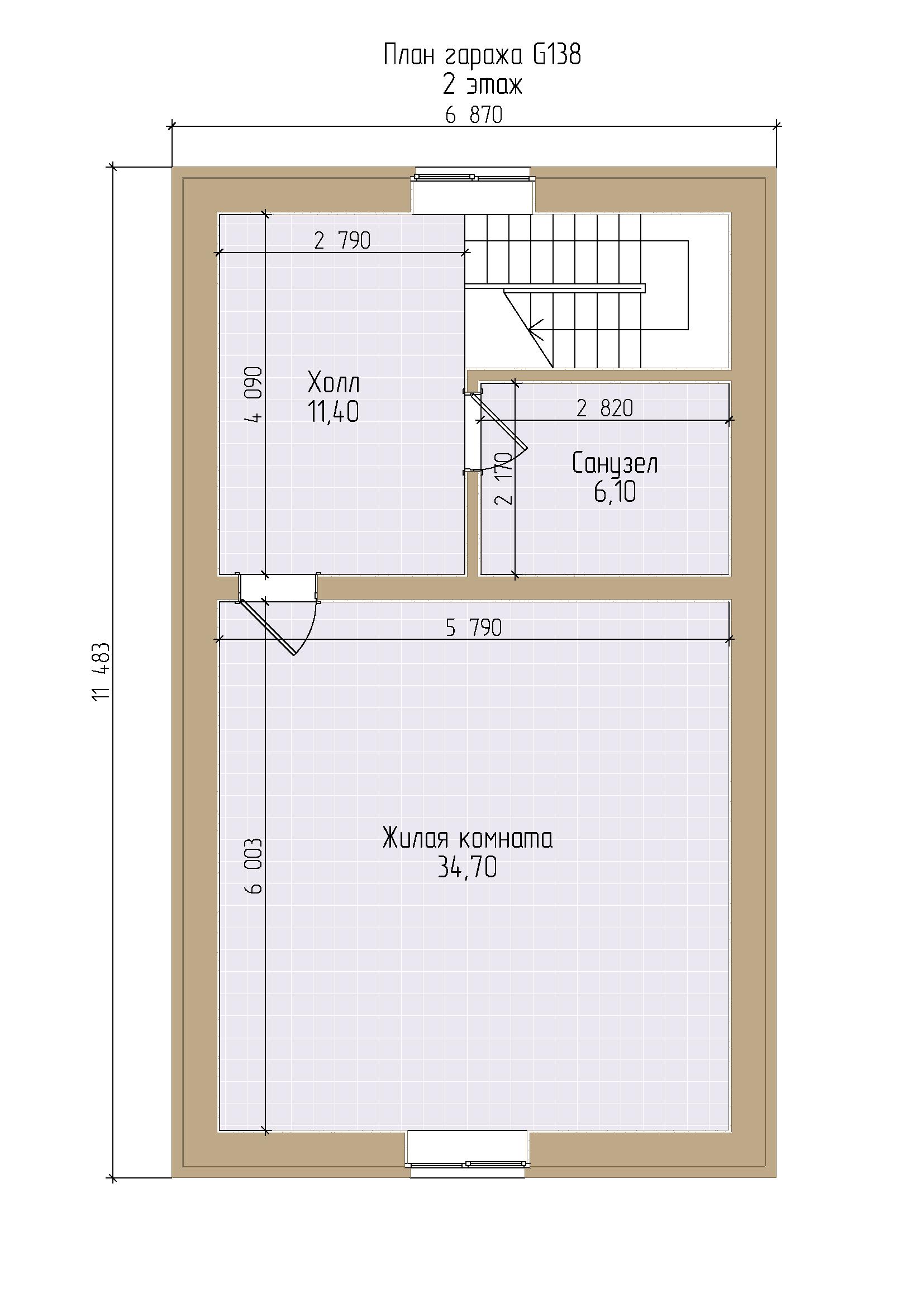Проект гаража в стиле фахверк с жилой частью и хозблоком