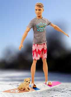 Кукла красавчик Барби Кен в стиле «Морские приключения»