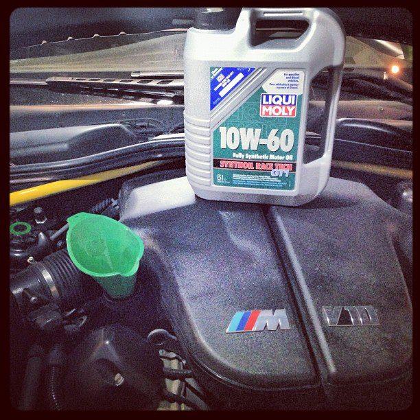 BMW M5 V10 обожает RACE TECH 10W-60 Liqui Moly