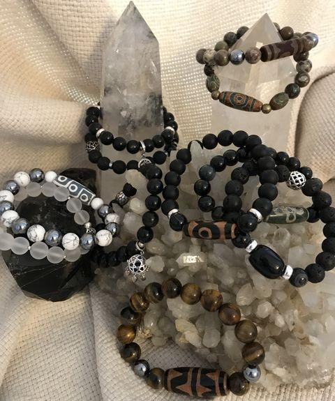 Мужские браслеты из натуральных каменй фото