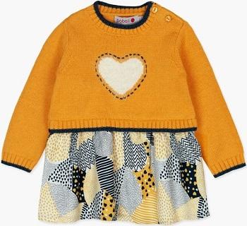 Платье Boboli Пушистое сердце купить в интернет-магазине Мама Любит с доставкой по России!