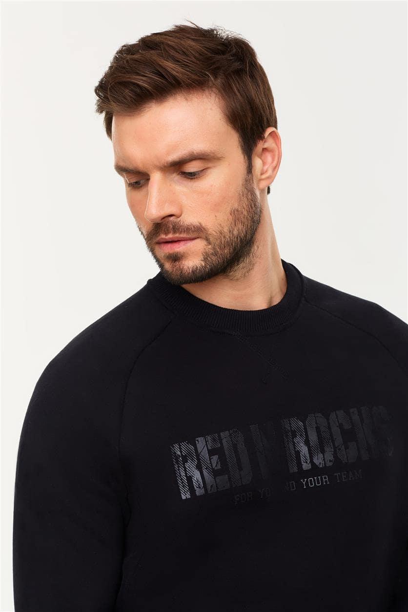 Спортивный костюм мужской утеплённый 12M-RR-1266 черный