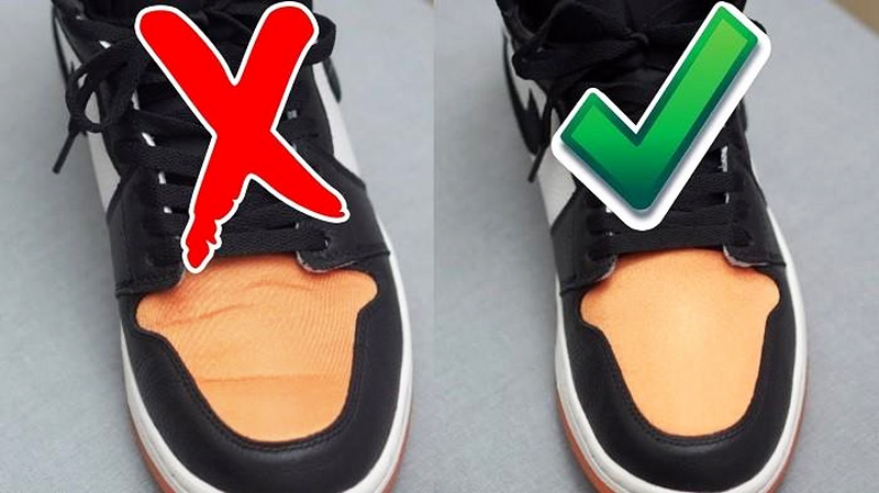 Выпрямить складки на кроссовках из кожи - 2
