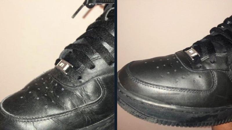 Выпрямить складки на кроссовках из кожи - 3