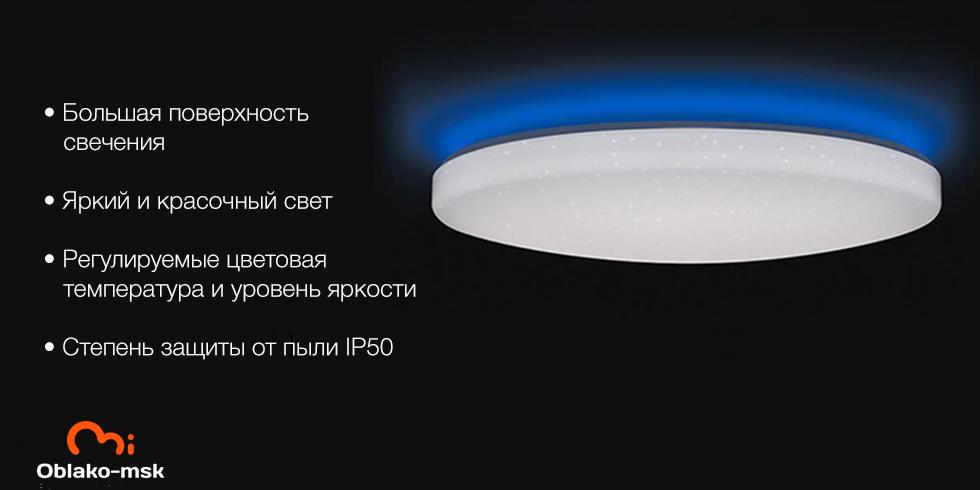 Потолочная лампа Xiaomi Yeelight Galaxy LED Ceiling Light 480mm (с эффектом звездного неба)