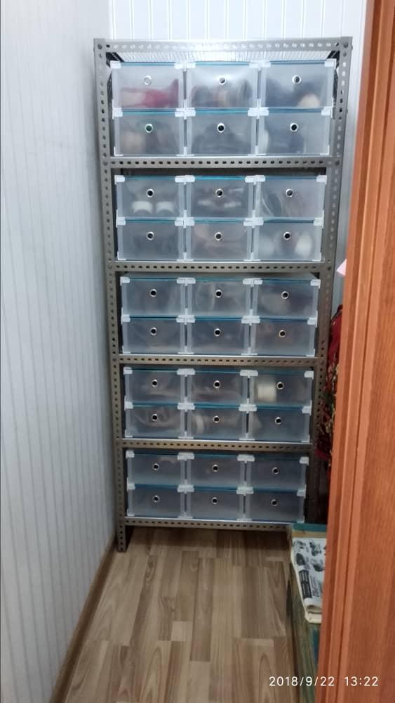 Хранение обуви после использования пластиковых прозрачных коробок