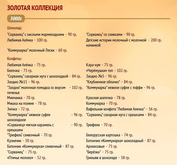 """Новогодний подарок """"Золотая коллекция"""" 3000г. Коммунарка"""